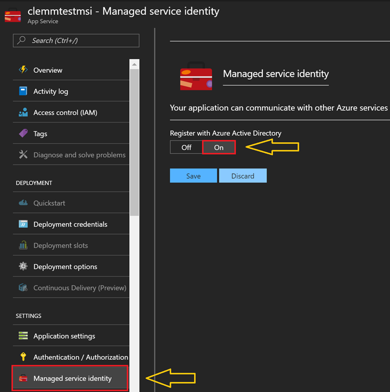 Using Managed Service Identity in Azure Functions to Access